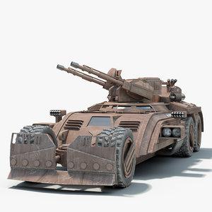 futuristic military vehicle 3d max