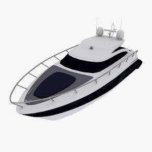 simple yacht 3d model