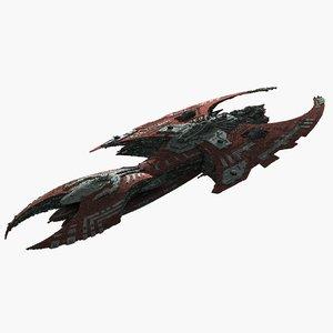 science fiction large scifi space 3d model