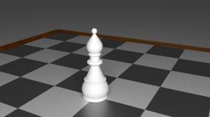 bishop piece chess 3d obj