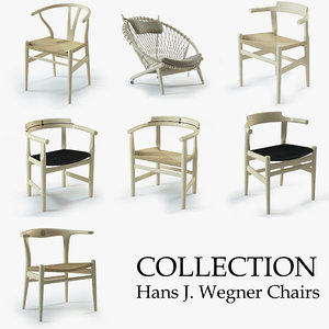 chairs hans j wegner 3d model