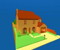 3d model simpson s home