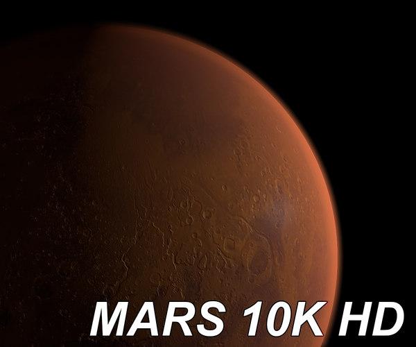 3d photorealistic planet mars