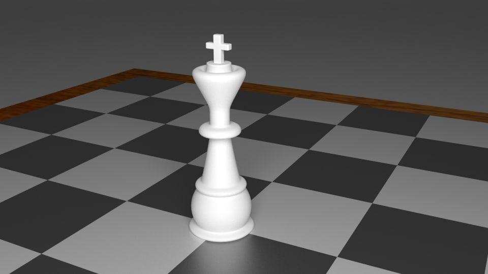 3d king piece chess