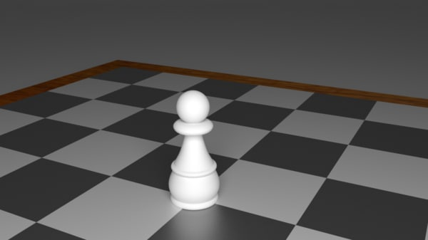 pawn piece chess 3d model
