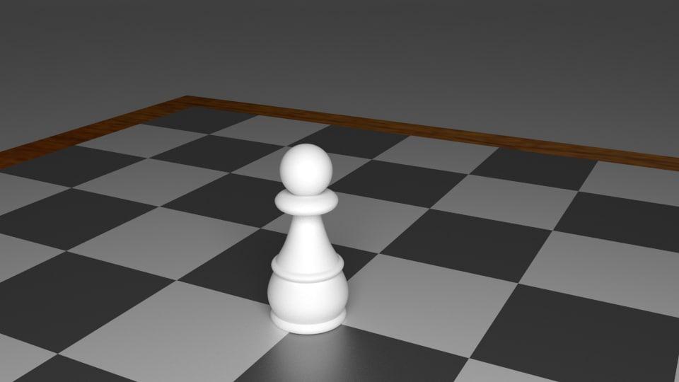 pawn piece chess 3d model