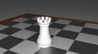 rook piece chess obj