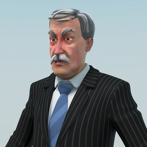 ma mustached man