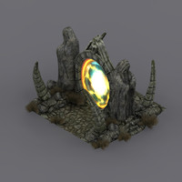 3d model medieval fantasy portal