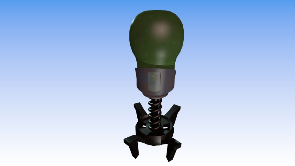 alien toon 3d obj