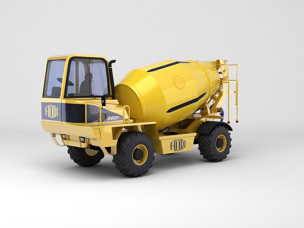 off-road concrete mixer max