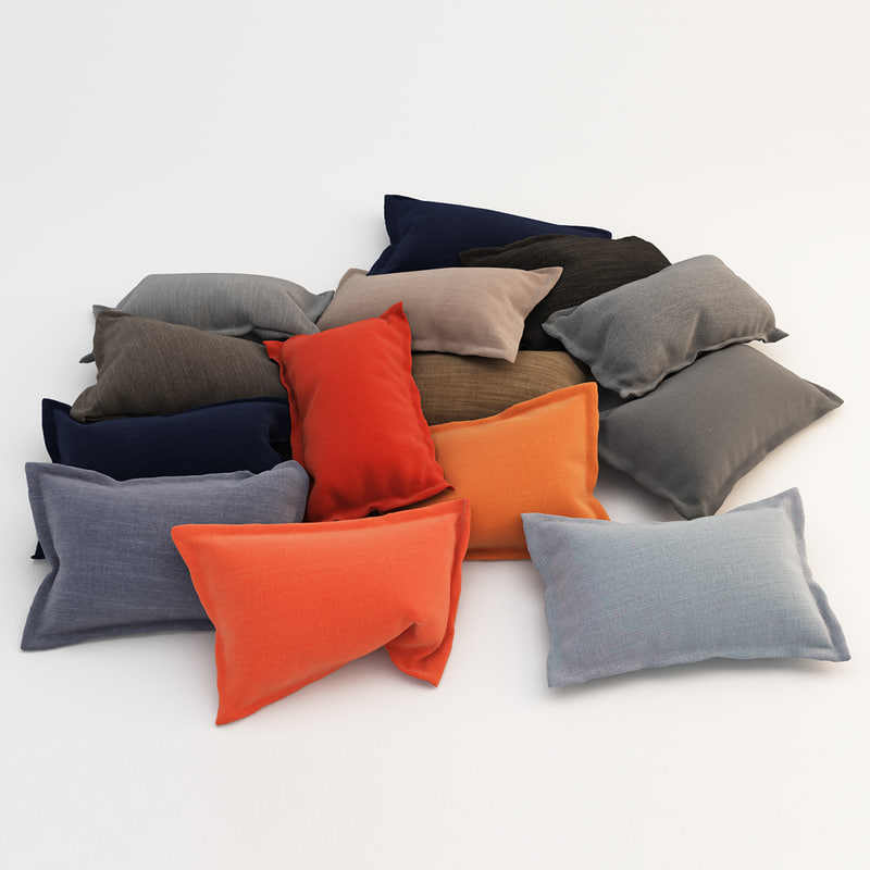pillows 50 3d max