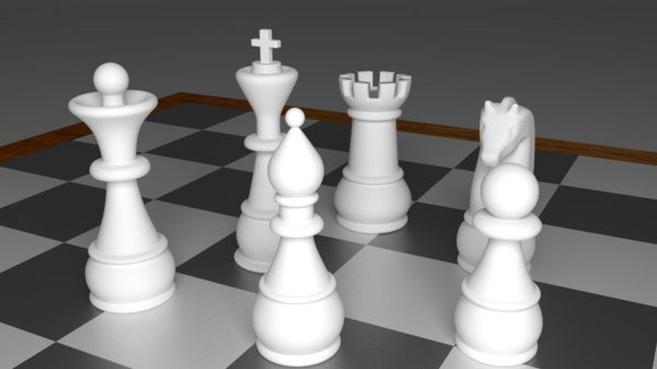 obj pieces chess set