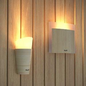 lights klafs lamps sauna 3d model