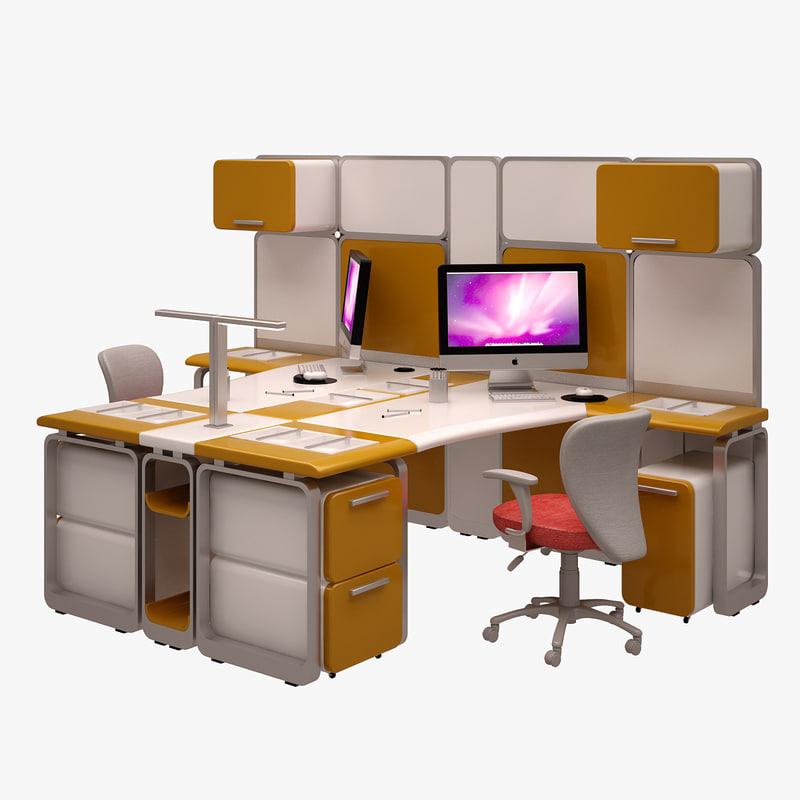 3d model workstation work