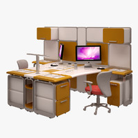 3d model workstation work