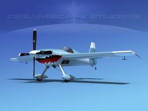 extra sport flugzeugbau ea300 3d model