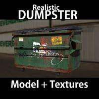 street dumpster 3d model