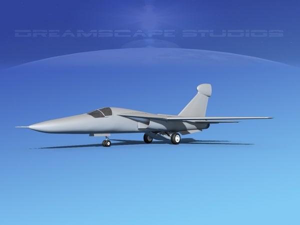 3d general raven ef-111 model