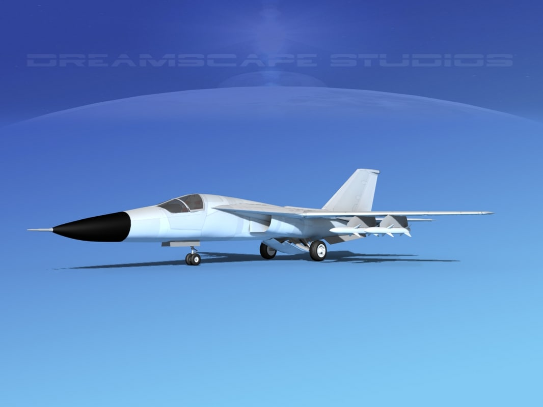 3d model general f-111 aardvark bomber