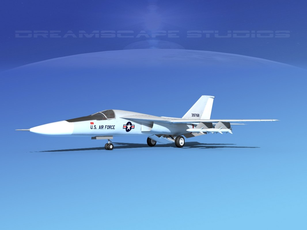 general f-111 aardvark bomber 3d model