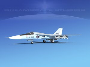 general f-111 aardvark bomber 3d model