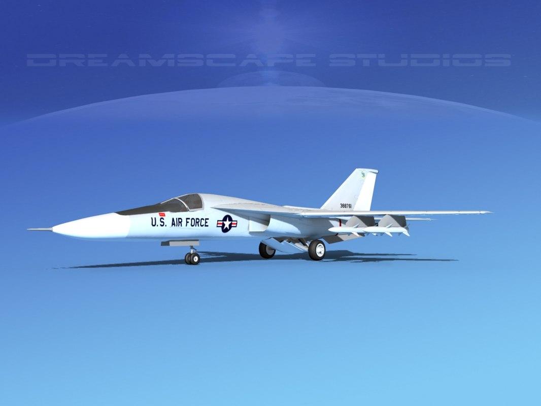 general f-111 aardvark bomber 3d max