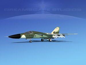 3d model general f-111 aardvark bomber