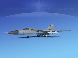 3d obj general f-111 aardvark bomber