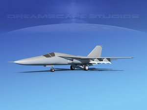3d general f-111 aardvark bomber