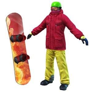 fbx snowboarder