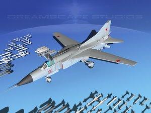 mig-23 flogger b fighter 3d model