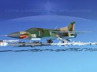 mig-23 flogger b fighter dxf