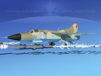3d mig-23 flogger b fighter