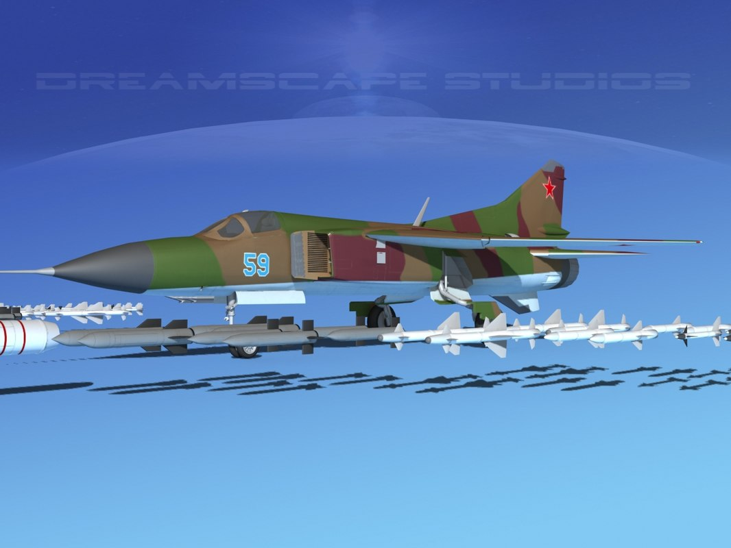 mig-23 flogger b fighter 3d model