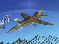3d mig-23 flogger b fighter model