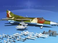 3d model of mig-23 flogger b fighter