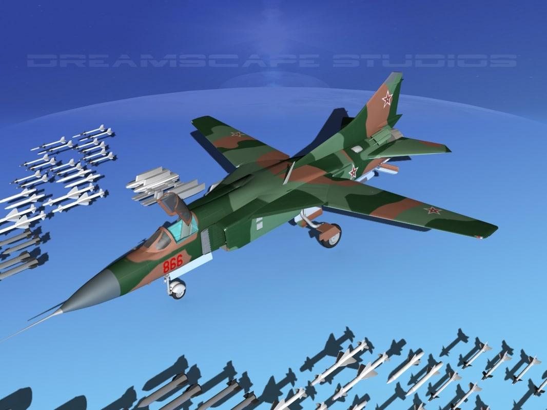 mig-23 flogger b fighter lwo