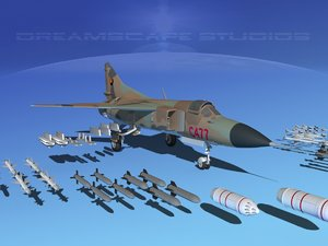 3ds mig-23 flogger b fighter