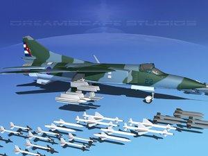 mig-23 flogger b fighter obj