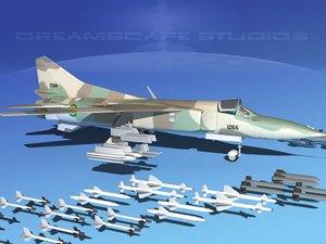 3d model mig-23 flogger b fighter
