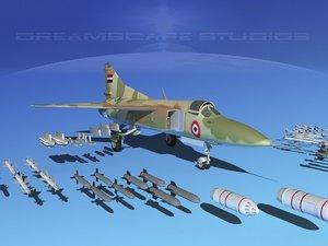mig-23 flogger b fighter 3d 3ds