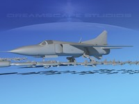 dxf mig-23 flogger b fighter