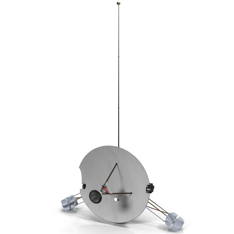 robotic space probe pioneer c4d