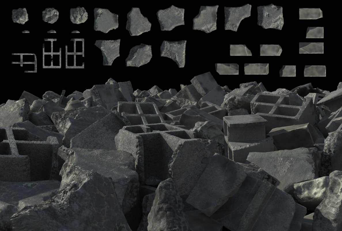 3d set debris model