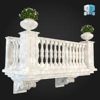 3d model balcony