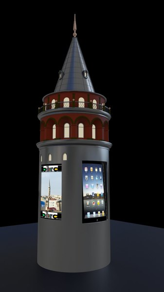 3d towe tower galata