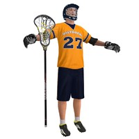 3ds max lacrosse player