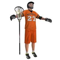 lacrosse player 3 3d model