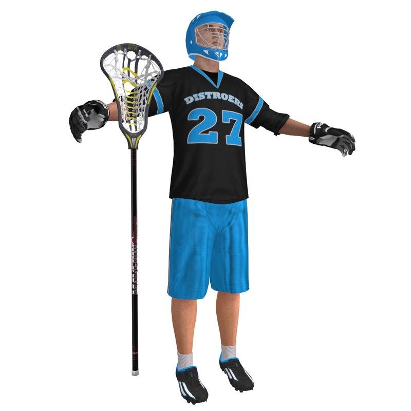 3d model lacrosse player
